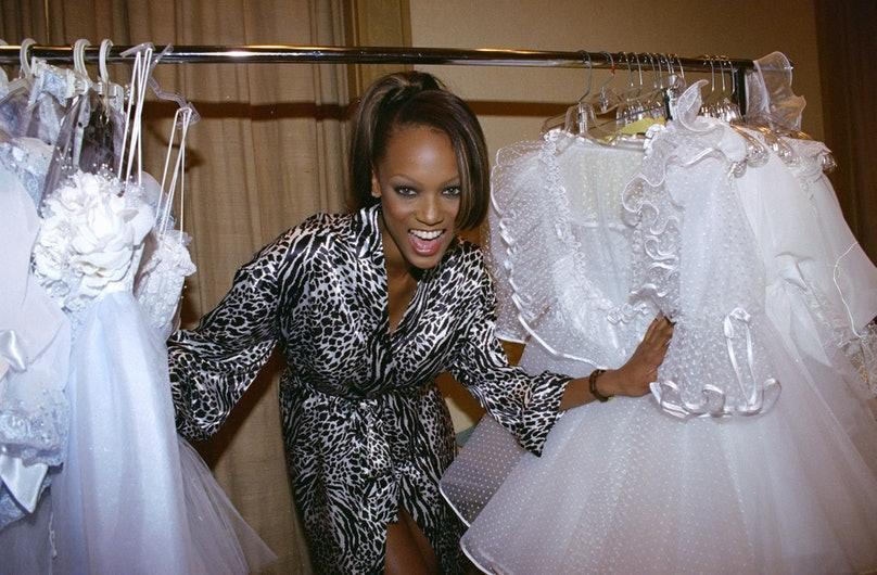 Tyra Banks backstage
