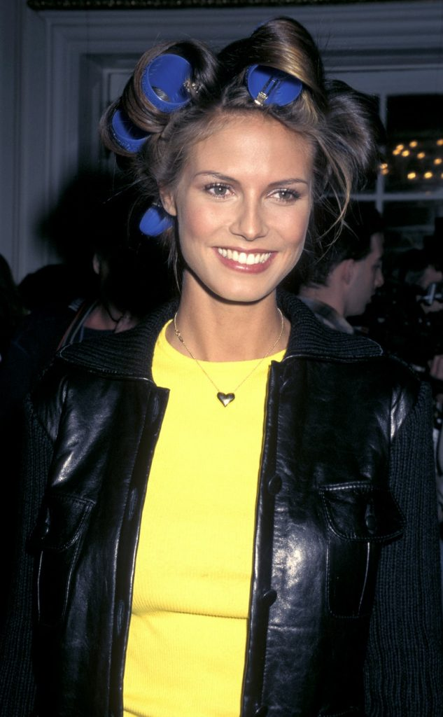 Heidi Klum backstage at the 1997 Victoria's Secret Fashion Show