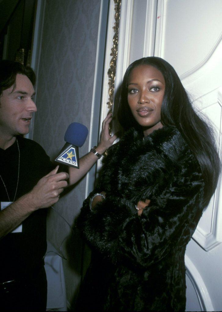 Naomi Campbell backstage at the 1998 Victoria's Secret Pre-Valentine's Day Fashion Show
