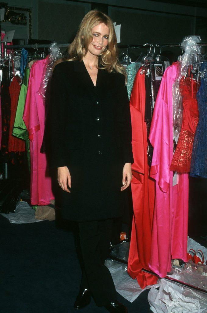 Claudia Schiffer backstage at the 1997 Victoria's Secre