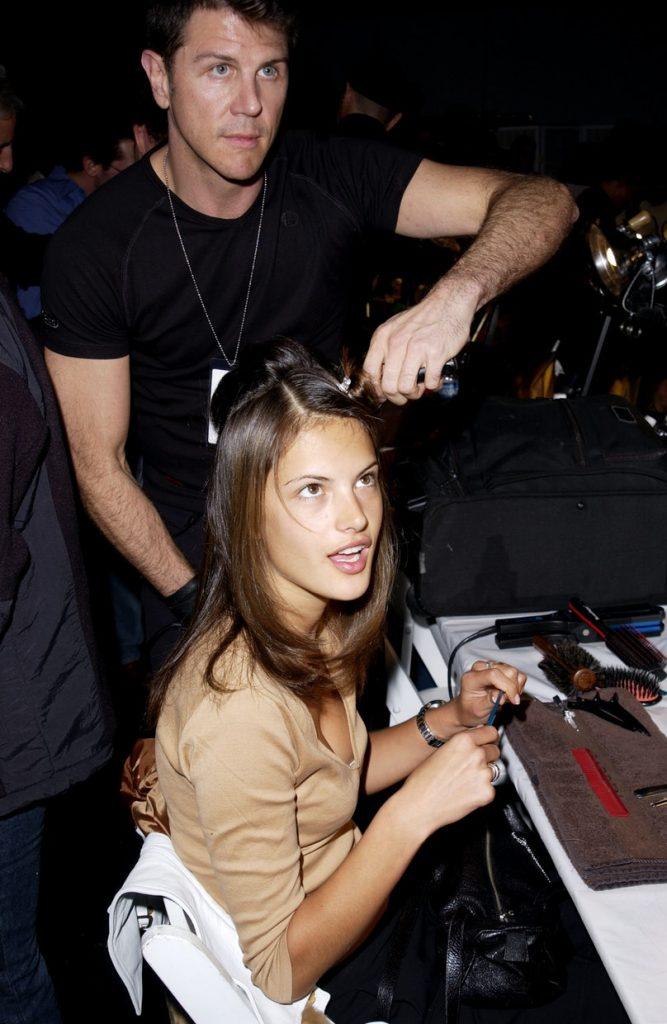 Alessandra Ambrosio backstage at the 2001 Victoria's Secret Fashion Show