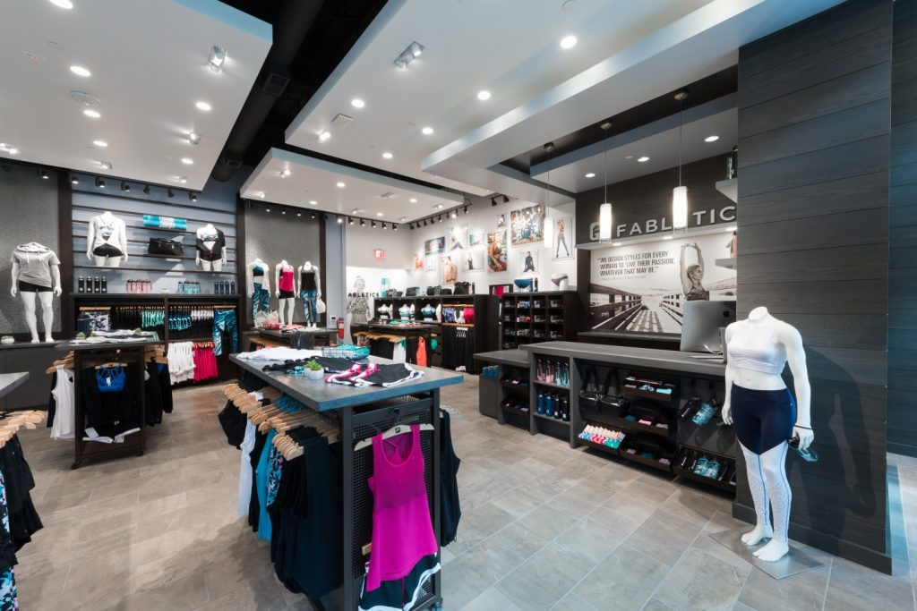 San Diego's new Fabletics store uses technology to connect in-store shopping with online operations. (Courtesy Fabletics).